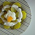 Salade de pommes de terre au yogourt et cornichon sucré