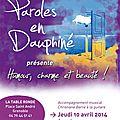 Humour, Charme et Beauté à la table ronde avec les conteurs de <b>Parole</b> en <b>Dauphiné</b>