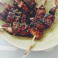 Yakitori de tofu aux shitakés