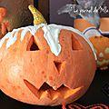 ▼▲▼ pumpkin décorée ▼▲▼ halloween booh !