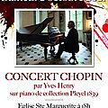 Concert <b>CHOPIN</b> le 2 octobre à Cerdon... lire questions pratiques en fin de texte