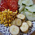 Salade composée à la banane