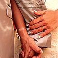 <b>Bracelet</b> <b>mariage</b> fin Céleste argenté avec perle goutte irisée