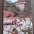 Gorges du Gardon - vieux mas au pas de Soucy datée 1987