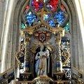 FecaTrin21Partie haute du retable (époque Louis XIII) avec son ornementation luxuriante Chapelle de la Vierge
