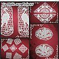 carres de dentelle avec motifs