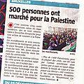 Action de commémoration et de soutien au peuple palestinien. (vidéo )