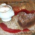 Coeur fondant au chocolat pour mon valentin