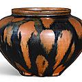 A russet-splashed black-glazed jar, <b>Song</b> <b>Dynasty</b> (<b>960</b>-<b>1279</b>)