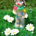 Fillette clown à la rose 15€