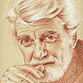 Jean Marais - portrait aux 3 crayons sur papier bis 30x40 cm
