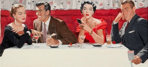 The Dinner Party, artwork by Paul Callan Burns