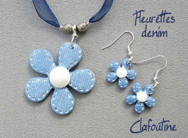 Fleurettes denim