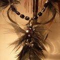Plume noire et perles Swaro