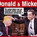Donald trump et mickey sarkozy