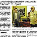 Article de presse sur la journée du Patrimoine de Lagnes par Madame RACHEX