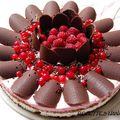 Gâteau d'<b>annivesaire</b> aux framboises et chocolat