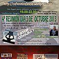 Reunion des cafes ufologiques a colon(argentine) et valencia (espagne) en octobre 2013