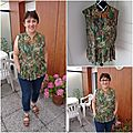 La <b>blouse</b> à basque esprit jungle