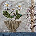 Patchwork : vases et corbeilles fleuris, bloc 8