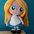 Alice in wonderland crochet amigurumi