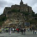 Le mont-saint-michel en eaux troubles