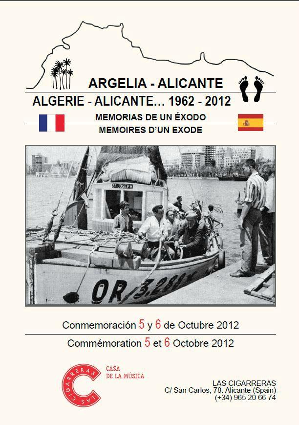 Cinquantenaire de l'arrivée des Pieds noirs à Alicante