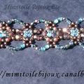 Bracelet turquoise et chocolat