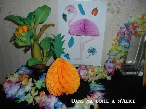 Un ananas et un flamant rose en pompon alvéolé! Projet D.I.Y.#19