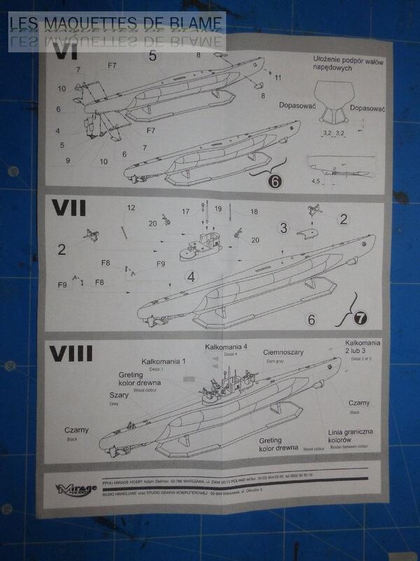 UNTERSEEBOOT TYPE VIIC TURM II U-673 [MIRAGE HOBBY 1/400] (En plongée) 120044623