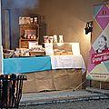 Stand de bonbons au marché de noël du château