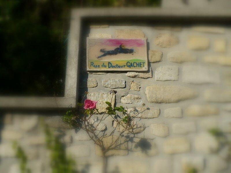 sur le pas du docteur gachet-Auvers-sur Oise- Van Gogh
