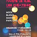 Tous à pechbusque le 17 décembre pour le marché de noël des créateurs!