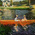 De la Seine à Asnières d'après Auguste Renoir - 61 x 50 -b août 1997