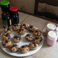 clafoutis, muffin et confitures de cerises