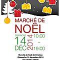 Marché de noël - dimanche 14 décembre 2014 !