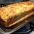 Cake raclette bacon et oignon