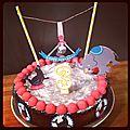 Gâteau d'anniversaire sans lactose sans gluten mais mignon quand même !