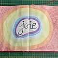 Page art journal : arc en ciel