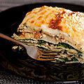 Lasagnes au saumon, <b>épinards</b> et mascarpone