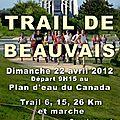 Ma 1ère course : le trail de beauvais 2012