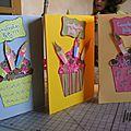 Postales cupcakes cumpleaños / cartes cupcake anniversaire