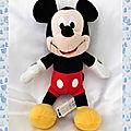 Doudou Peluche <b>Mickey</b> Disney 26 cm