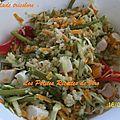 Salade tricolore au quinoa