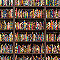 Monumental installation by <b>Yinka</b> <b>Shonibare</b> presented in the Speed Art Museum's historic art library