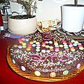 gâteau smarties anniversaire