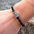 Bracelet homme rune viking - macramé torsadé