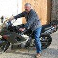 patrice sur la moto de son frère alain