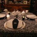 TABLE NOIR/BLANC