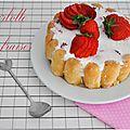 Charlotte aux fraises {petit dessert simple et léger}